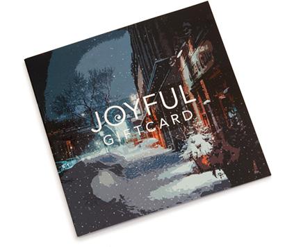 Joyful Giftcard ett uppskattat gåvokort.